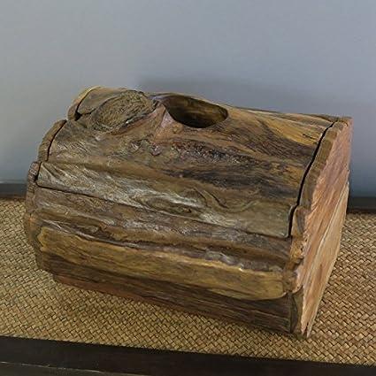 YUCH Toallero de madera, muebles para el hogar Hotel baño toalla de papel tubo higiénico
