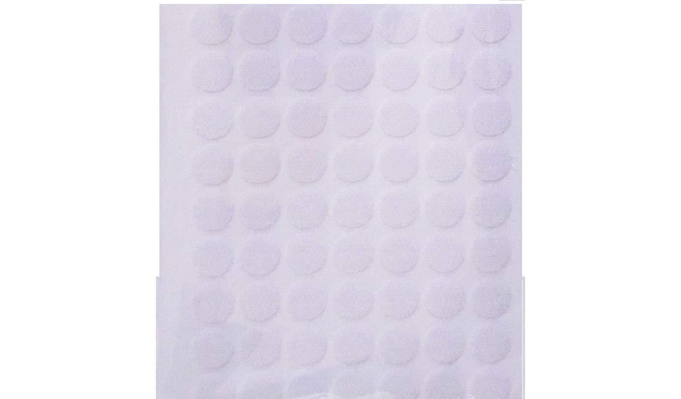 Specialist Tapes UK Hook and Loop Self Adhesive White Coins Dots 100 Hook & 100 Loop (200 x 13mm)