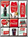 Coca Cola Diner set of 9 Mini Fridge Magnets in box (na)