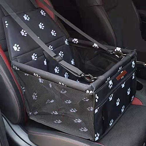 SWIHELP Bolsa de Transporte para Mascotas, Asiento del Coche de Seguridad para Mascotas Perro Gato Plegable Lavable Viaje Bolsas y Otra Mascota Pequeña con Cremallera Bolsillo[ Paw Pattern]: Amazon.es: Productos para mascotas
