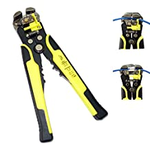 Molshine - Wire Stripping Tool with Self-adjusting Jaws - Automatic Wire Stripper Cutter Crimper - Professional Precision Multi-Function Hand Tool