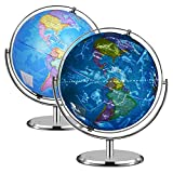 Best Illuminated Globes - Illuminated World Globe - 2 in 1 Globe Review