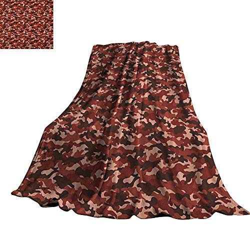 (RenteriaDecor Camouflage,Soft Blanket Microfiber Uniform Design Color Bursts Environment Hiding Concealment Pattern Throw Rug Sofa Bedding)