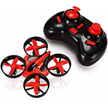 Mini Quadcopter Drone, EACHINE E010 2.4GHz 6-Axis Gyro Remote Control Nano Drone for Kids Adults Beginners - Headless Mode, 3D Flip, One Key Return (Red)
