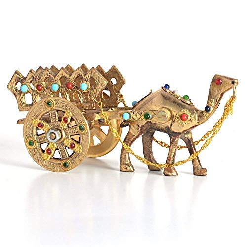 Gemstone Studded Brass Camel Handicraft - Gem Camel