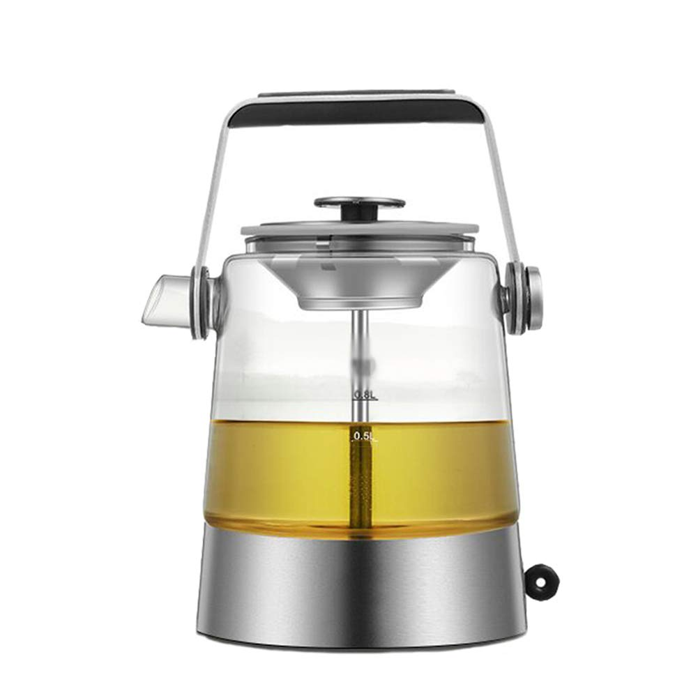 Electric Kettles H.ZHOU Energy Saving Automatic Glass Boiling Teapot Steaming Teapot Health Pot Electric Steam Tea Steamer White Tea Black Tea Tea Maker Glass Steam Teapot Stainless Steel Steam Nozzle