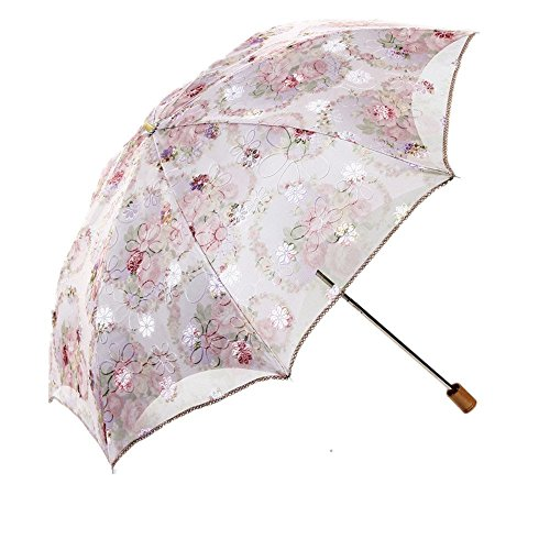 women-beige-folding-lace-parasol-sun-anti-uv-upf-50-umbrella-compact-travel-umbrella
