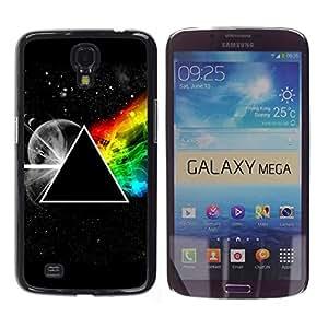 TECHCASE**Cubierta de la caja de protección la piel dura para el ** Samsung Galaxy Mega 6.3 I9200 SGH-i527 ** Triangle Secret Symbolics Universe Rainbow