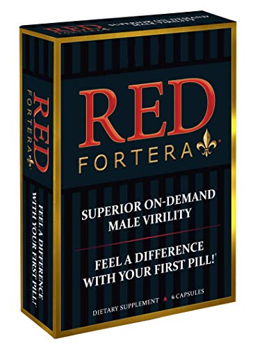 Clinically Tested Red Fortera 6 Capsules - Fast Acting Tribulus Energy Performance Booster | Increase Performance and Stamina On-Demand