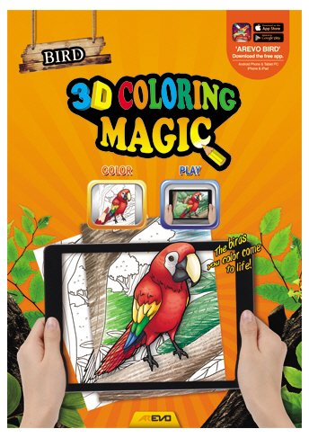 3d Coloring Magic Augmented Reality Ar Coloring Book Set Dinosaur Safari Sea Animals Birds Interactive Learning Toy 4 Pack Set