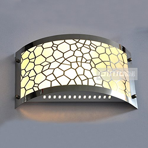 RLYYBE1 DIY Wall Light Creative Modern Rustic Industrial Vintage And Simple Led Crystal Walls Bedroom Living Room Outdoor Decorative Lamp Sconce Lighting Stainless Steel Water Cube , carved warm light