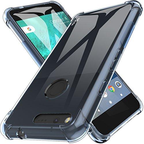 Clip Wireless Solutions Leather (Google Pixel Case, DGtle Anti-Scratches TPU Gel Premium Slim Flexible Soft Bumper Rubber Protective Case Cover for Google Pixel (Blue))