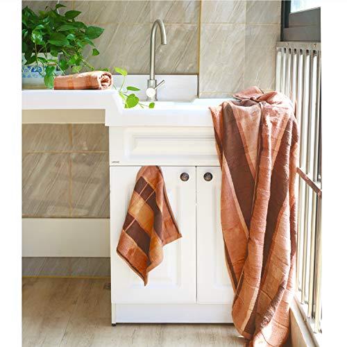 Orange Vanweidi Bath Hand Towel Sets 100 Cotton Yoga 3pc Hotel Spa Quality Luxury Bathroom Beach Sheet Super Absorbent Soft Light Rugs