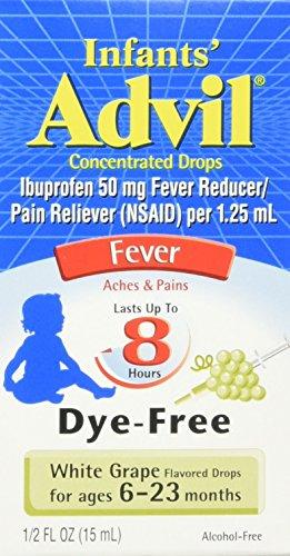 Infant's Advil, Dye-Free White Grape, 0.5 Ounce