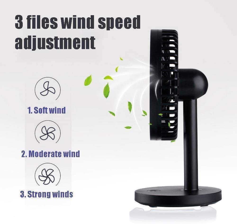 Mini Fan 3 Speeds Color : Blue, Size : 12.71020cm Powerful Airflow Adjustable Head,for Home Office GAOFENG Mini Desk Fan Personal USB Fan