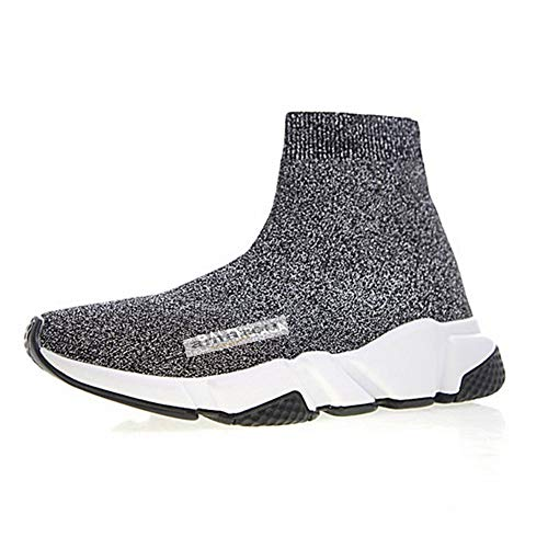 Grigio Donna Scarpe knit Fitness Uomo Sportive Outdoor All aperto Casual  Basket Per Interior Running Stretch ... fe6cbed88d3