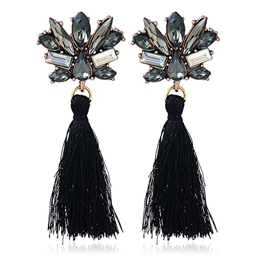 Dana Carrie Joyas europeas y americanas y coloridos adornos oreja arroyo de oreja colgante joyas de bohemia joyas de estilo étnico negro