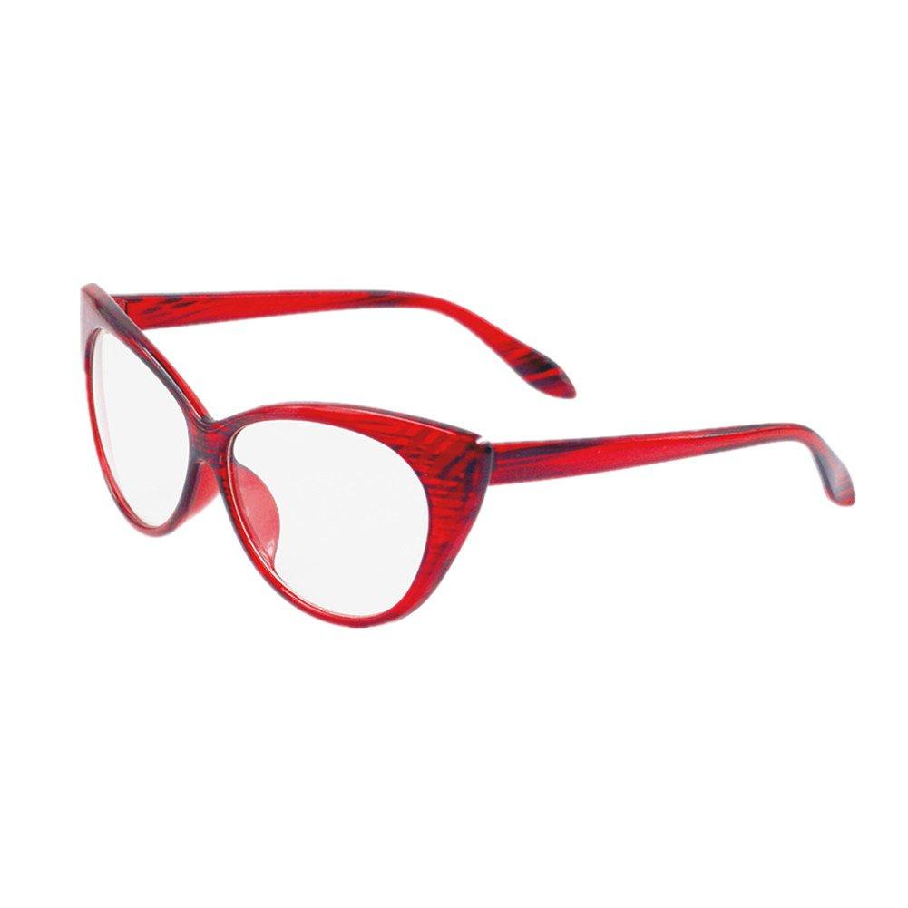 rosso Occhiali da vista Super Cat Vintage ispirati alla moda Mod Clear Clear Eyewear