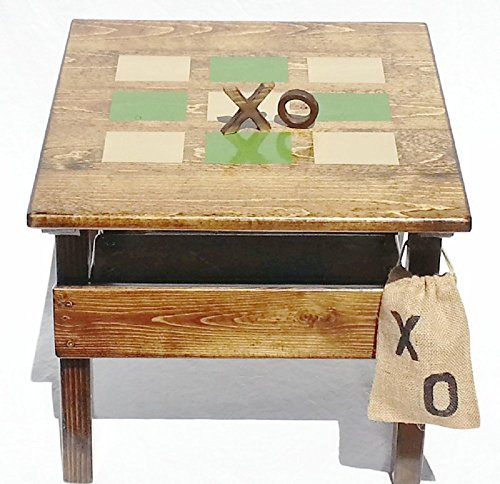 Kids Tic Tac Toe Outdoor Wooden Game and Activity Table, Childrens' Heirloom Furniture, Indoor/Outdoor from Happy Chairs and More