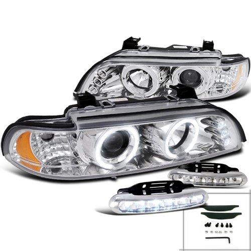 BMW 528I 540I Halo Projector Headlights+LED Bumper Fog (540i Bumper)