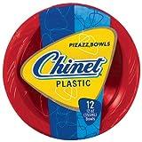 Chinet Premium Plastic Bowls, Red/Blue, 12 Count