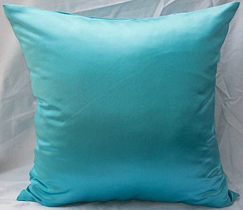 Satin Throw Pillow - TangDepot Solid Heavy Satin Decorative Throw Pillow Cover, Pillow Shams, Square pillow covers, Cushion Covers, Pillowcase - (14