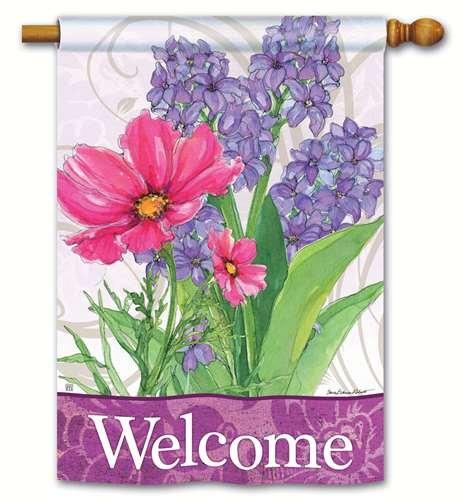 Magnet Works BreezeArt House Flag - Garden Bouquet - Bouquet Flag