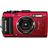 Olympus Stylus TOUGH TG-4 Waterproof 16MP CMOS Digital Camera with WiFi, GPS, eCompass and 1080P Video - Red