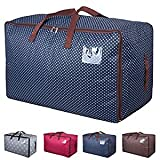 100 L Clothes Quilt Storage Bag Holder Container Blanket Pillow Reusable Laundry Bag Moving Bag with Strong Handles Luggage Duffel Space Saver Bag Thick 600D Oxford Ultra Size Under Bed Storage Bag
