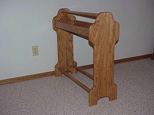 Stand Wooden Saddle - Standing Saddle Stand - Honey Oak Stain