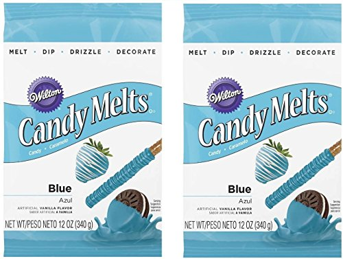 Wilton 16911-1352 Blue Candy Melts, 12-Ounce(2pk)