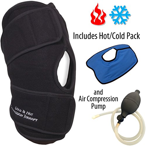 PolyGel (Hot or Cold) Air Compression Knee Brace Support ...
