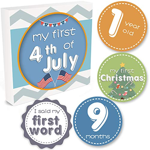 Yizeda Baby Monthly Milestone Stickers - 26 Baby