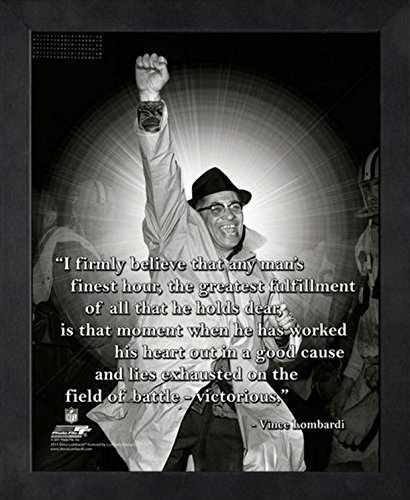 (Vince Lombardi Green Bay Packers Pro Quotes Photo (Size: 12