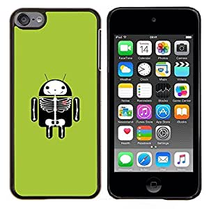 Jordan Colourful Shop - Funny Android X Ray For Apple iPod Touch 6 6th Generation Personalizado negro cubierta de la caja de pl????stico