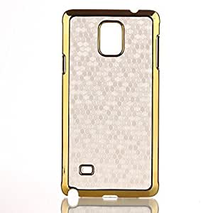 Galaxy Note 4 Case,LYYF Cute Golden Ball Stripe and Golden Metal Frame Case for Samsung Galaxy Note 4 ,Galaxy Note 4 Case Skin/cover(SM-N910S) (White) Kimberly Kurzendoerfer