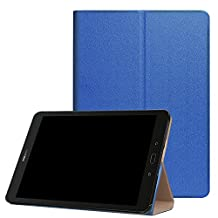Etui for Samsung Galaxy Tab S3 9.7 Inch SM-T820 Cover Case Halterung with Magnetic close and Wake & Sleep Funktion (Blue) + FREE Stylus Touch Pen