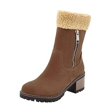 e009179eaf677 Amazon.com: Memela Ladies Winter Shoes Zipper Short Ankle Winter ...