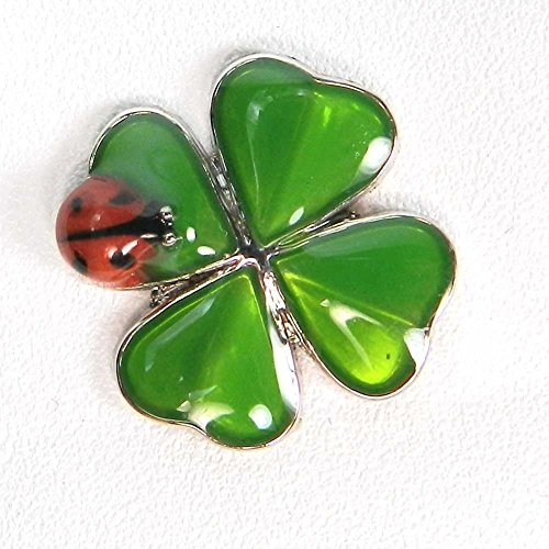 1 Ganz Twice the Luck Clover and Lady Bug Charm (Luck Good Ladybugs)