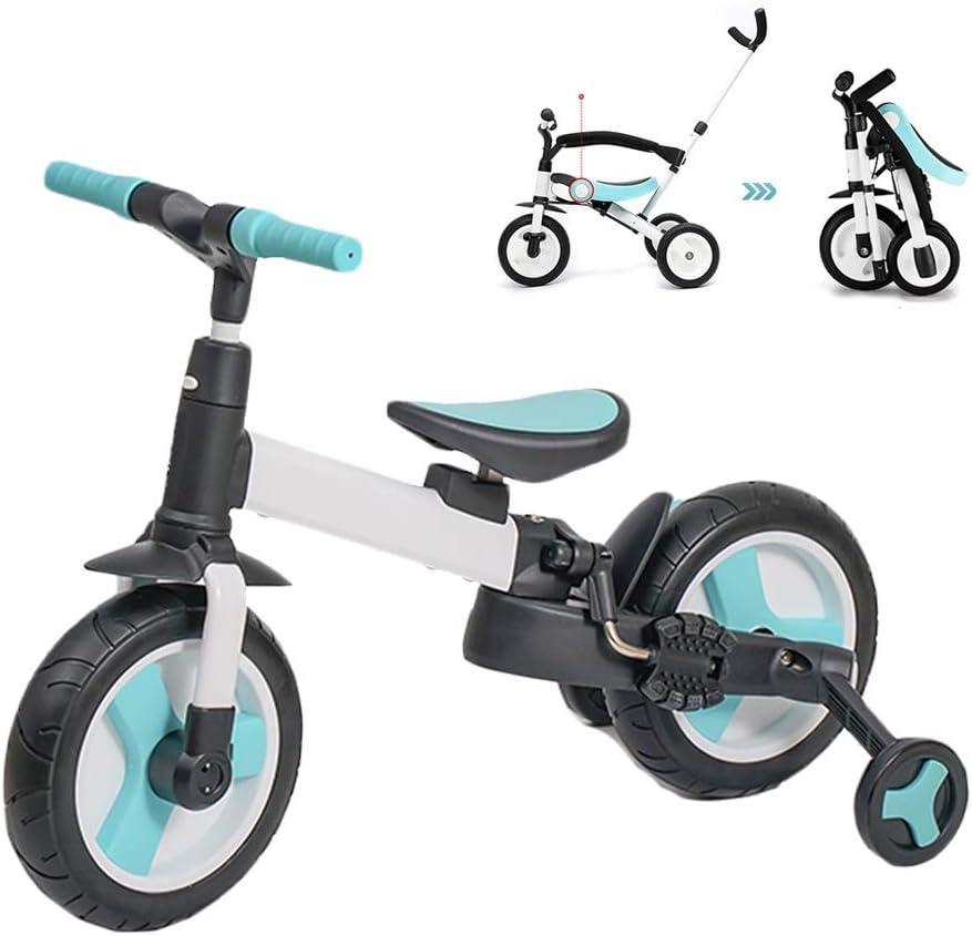 LYXCM Coche de Equilibrio para niños, Bicicleta 5 en 1 de Doble Uso para bebés de 1 a 3 años Scooter Scooter Infantil Triciclo Plegable para un fácil Almacenamiento
