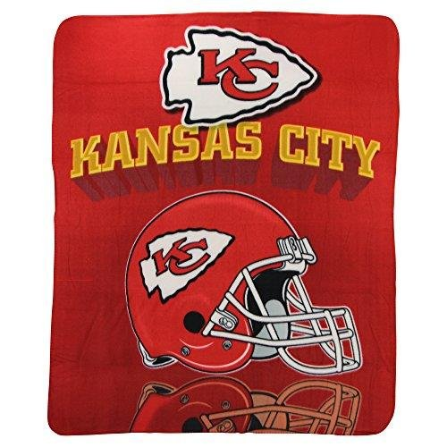 NFL Kansas City Chiefs Gridiron Fleece Throw, 50-inches x 60-inches