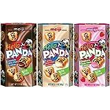 Meiji Hello Panda Biscuits Variety 6 Packs – Strawberry, Vanilla and Choco Crème
