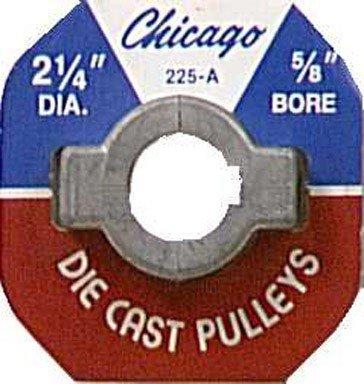 2-1/4 X 5/8 Inch Die Cast Pulley (Pulleys Casting Die Diecast Chicago)