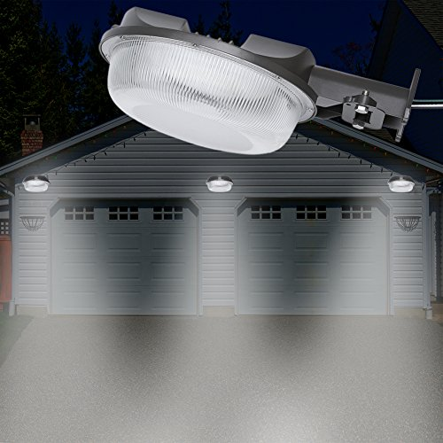 CINTON dusk to dawn led outdoor lighting, LED Barn Light, 58W Area Light Photocell Included, 5000K Daylight, 6400LM, Perfect Yard Light, DLC & ETL Listed, 550W Incandescent or 150W HID light Equivalen by CINOTON (Image #6)