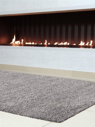 benuta Teppiche: Shaggy Langflor Hochflor Teppich Swirls Grau 80x300 cm - schadstofffrei - 100% Polypropylen - Uni - Maschinengewebt - Wohnzimmer
