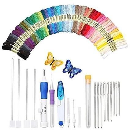 Decoración del hogar Juego de bolígrafos de bordado mágico, herramienta de artesanía de aguja de