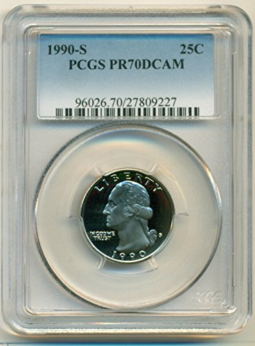 1990 S Washington Proof Quarter PR70 DCAM PCGS
