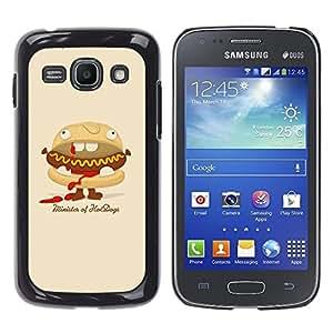 TECHCASE**Cubierta de la caja de protección la piel dura para el ** Samsung Galaxy Ace 3 GT-S7270 GT-S7275 GT-S7272 ** Hot Dog Sandwich Junk Food Animation Art