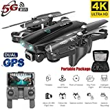 AKDSteel S167 GPS Drone with Camera 5G RC Quadcopter Drone 4K WiFi FPV Foldable Off-Point Flying Gesture Photos Video Helicopter Toy 5G 4K 3 Battery