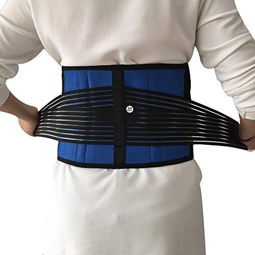 Brand New Deluxe Neoprene Double Pull Lumbar Lower Back Support Brace Exercise Belt Size (Neoprene Pull)